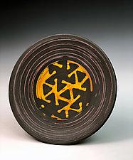Plate with Pinwheel Pattern by Thomas Harris (Ceramic Platter)