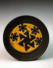 Plate with Pinwheel Patterns III by Thomas Harris (Ceramic Platter)