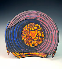 Plate with Nautilus by Thomas Harris (Ceramic Platter)