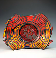 Large Bowl with Nautilus II by Thomas Harris (Ceramic Bowl)