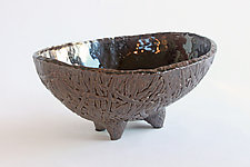Coconut Oval IV by Emil Yanos (Ceramic Bowl)