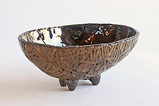 Coconut Oval II by Emil Yanos (Ceramic Bowl)