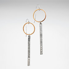 Two-Tone Stick Earrings by Nikki Nation (Gold & Silver Earrings)
