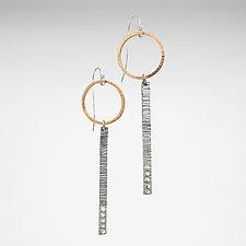 Two-Tone Stick Earrings by Nikki Nation (Gold & Silver Earrings)