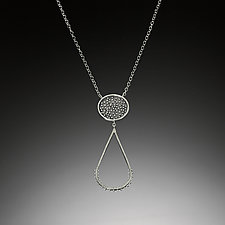 Dot Droplet Necklace by Nikki Nation (Silver Necklace)