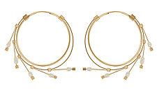 Spring Hoops by Meghan Patrice  Riley (Steel Earrings)