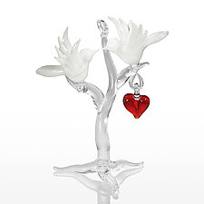 Love Birds by Kevin McKay, Maki Kawakubo and Kirsten Loewen (Art Glass Ornament)