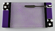 Purple Polka ColorCentric by Terry Gomien (Art Glass Tray)