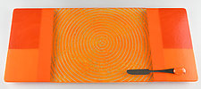 Large Orange Blocks Tangerine ColorCentric by Terry Gomien (Art Glass Tray)