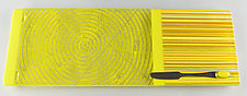 Medium Yellow Colorcentric Sunrise by Terry Gomien (Art Glass Tray)