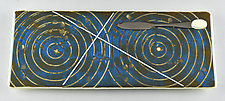 Double Galaxy by Terry Gomien (Art Glass Tray)