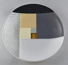 Fibonacci Shallow Bowl by Terry Gomien (Art Glass Bowl)