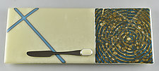 X O Galaxy by Terry Gomien (Art Glass Tray)