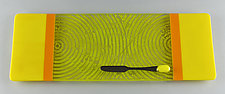 Medium Lemon Marigold ColorCentric Plank by Terry Gomien (Art Glass Tray)
