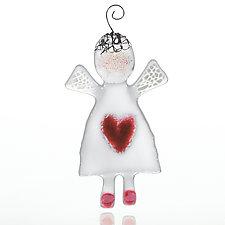 Guardian Angel by Sharon McNamara and Paul Palango (Art Glass Ornament)