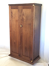 Tall Jewelry Armoire by David Klenk (Wood Jewelry Cabinet)