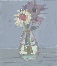 Whole Food Daisies by Cynthia Eddings (Oil Painting)