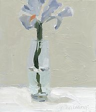 Iris 1 by Cynthia Eddings (Oil Painting)