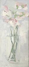 Sweet Pea Tall by Cynthia Eddings (Paintings & Drawings Oil Paintings)