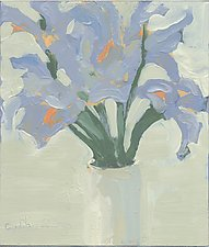 Iris 3 by Cynthia Eddings (Oil Painting)