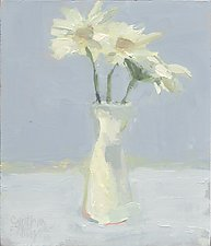 White Daisies by Cynthia Eddings (Oil Painting)
