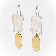 Dew Drop Earrings by Jane Pellicciotto (Silver & Bronze Earrings)