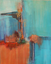 Blue Abstraction V by Nicholas Foschi (Acrylic Painting)