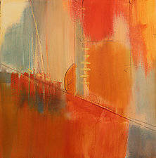 Orange Geometric I by Nicholas Foschi (Acrylic Painting)