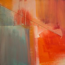 Orange Geometric II by Nicholas Foschi (Acrylic Painting)