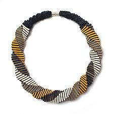 Turning Necklace #5 by Sophia Hu (Polyester & Stainless Steel Necklace)