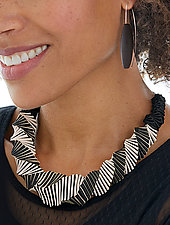 Turning Necklace No. 2 by Sophia Hu (Polyester & Stainless Steel Necklace)