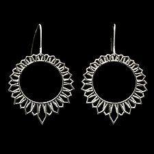 Sun House Earrings by Diana Eldreth (Silver Earrings)
