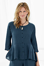 Calais Top by Lisa Bayne  (Linen Shirt)