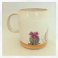 Boho Double Cactus Color Mug II by Chris Hudson and Shelly  Hail (Ceramic Mug)