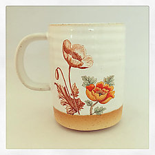 Poppy Mug by Chris Hudson and Shelly  Hail (Ceramic Mug)