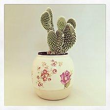 Pretty in Pink Bud Vase by Chris Hudson and Shelly  Hail (Ceramic Vase)