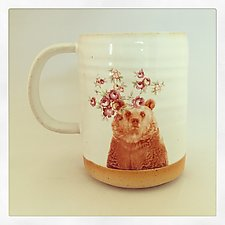 Talk to the Animals Bear Mug by Chris Hudson and Shelly  Hail (Ceramic Mug)