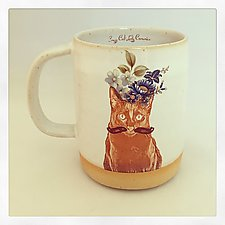 Sir Shalom's Fabulous Floral Mug by Chris Hudson and Shelly  Hail (Ceramic Mug)