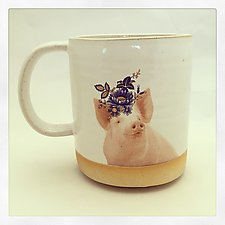 Talk to the Animals: Pig Mug by Chris Hudson and Shelly  Hail (Ceramic Mug)