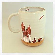 Jurassic Dinosaur Mug by Chris Hudson and Shelly  Hail (Ceramic Cups & Mugs)