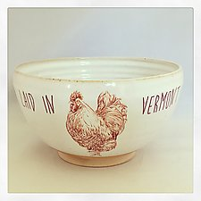 Laid in Vermont Medium Serving Bowl by Chris Hudson and Shelly  Hail (Ceramic Bowl)