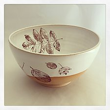 Fabulous Fall Serving Bowl by Chris Hudson and Shelly  Hail (Ceramic Bowl)