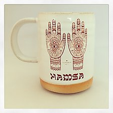 Hamsa Good Luck Mug by Chris Hudson and Shelly  Hail (Ceramic Mug)
