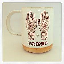 Hamsa Good Luck Mug by Chris Hudson and Shelly  Hail (Ceramic Mug)