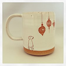 Dog Lover's Christmas Mug by Chris Hudson and Shelly  Hail (Ceramic Mug)
