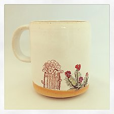 Boho Double Cactus Color Mug by Chris Hudson and Shelly  Hail (Ceramic Mugs)