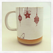 Cat Lover's Christmas Mug by Chris Hudson and Shelly  Hail (Ceramic Mug)