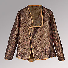 Glazed Copped Linen Jacket by Uosis Juodvalkis  and Jacquie Rice  (Linen Jacket)