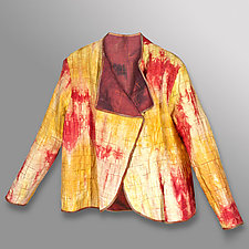 Hand Dyed Linen Reversible Jacket 1 by Uosis Juodvalkis  and Jacquie Rice  (Linen Jacket)