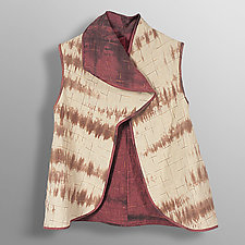 Hand Dyed Linen Reversible Vest 1 by Uosis Juodvalkis  and Jacquie Rice (Linen Jacket, M (10-12))